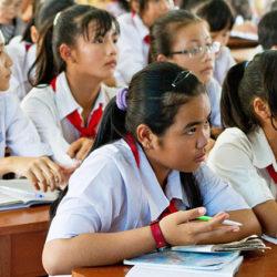school visit in Bac Lieu, Vietnam