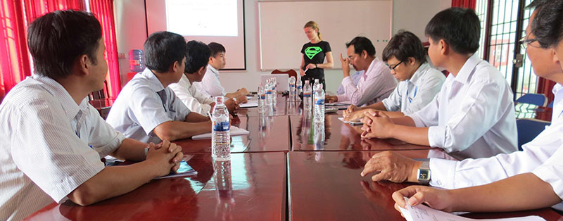 Consultancy mission GIZ TVET in Vietnam, introduction of mission in Long An