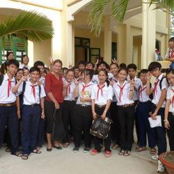 school visit, Bac Lieu, Vietnam 2012